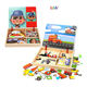 Best Selling Quality Kids Wooden Educational Toy No-toxic Magnetic Wood Puzzle Children Wooden Magnetic Puzzle