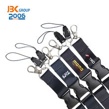 Durable polyester strap with metal hook/plastic buckle safety breakaway lanyard