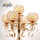 5 arms crystal candelabra New Wedding candlestick