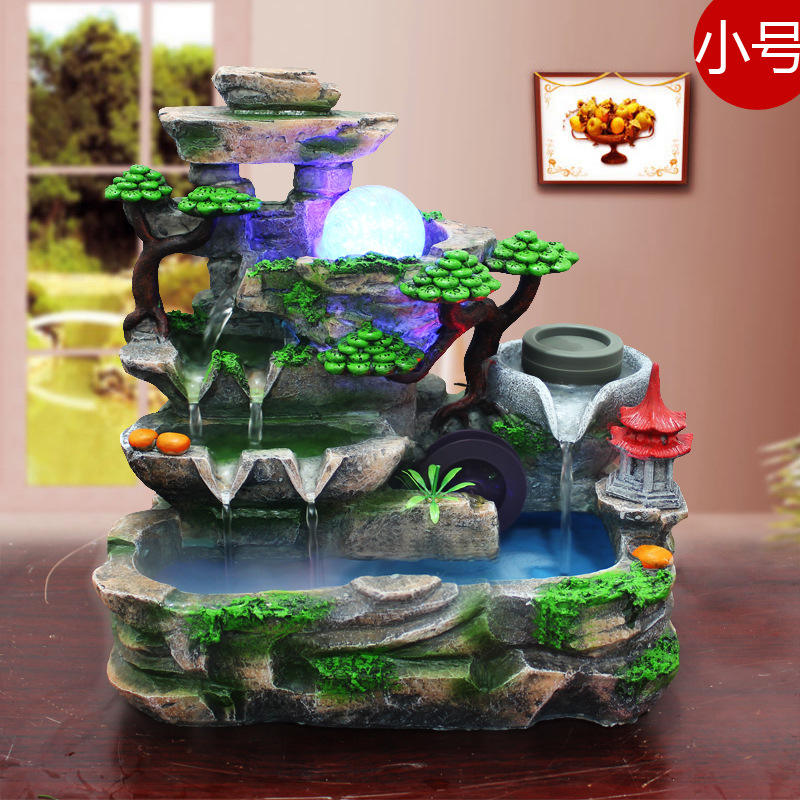 Resin Water Fountain Decoration, moving, opening, recruitment, technology, living room, home decoration, arts and crafts