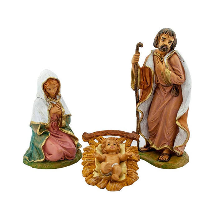 "Resin Christmas Nativity Figurine Set 5"" Christmas Nativity Collection Different Statues Traditional Nativity Figures"