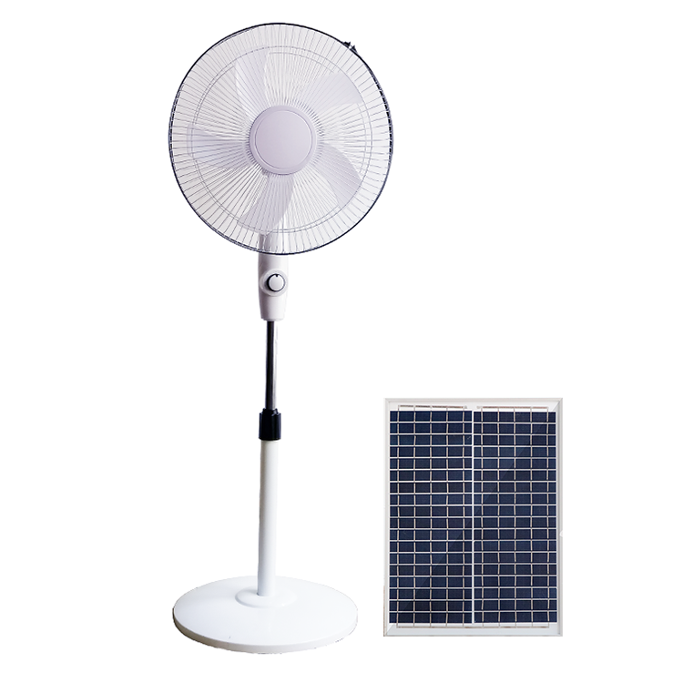 16 inch 12V rechargeable solar table fan with solar panel and lithium battery