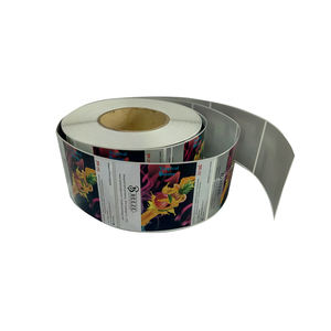 Custom Self Adhesive Perak PP Stiker Tahan Air Roll Label Botol Stiker