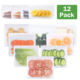 New Leakproof Reusable Silicone Food Storage Bag Thick Snack Bags Freezer Bag Lunch Bag