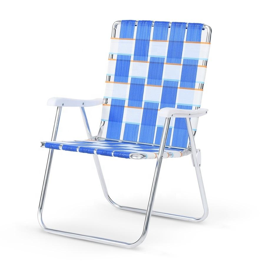 Sunnyfeel Compact Lightweight Aluminum Outdoor Picnic Folding Beach Web Lawn Chair