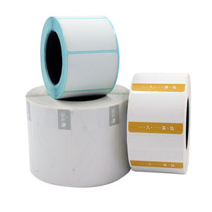 Adhesive barcode sticker roll direct thermal paper label 65mm W x 80mm L