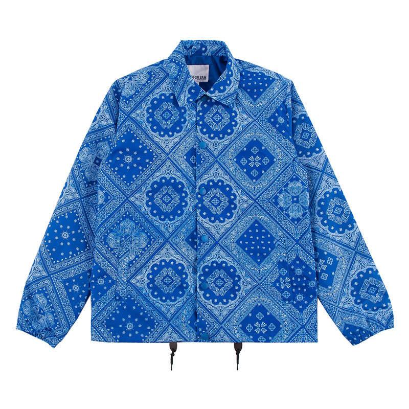 China factory custom bomber jacket wholesale mens cashew printing nylon coaches jacket