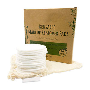 OEM Reusable Washable Organic Cosmetic Makeup Remover Cloth Bamboo Cotton Pads Eco Friendly