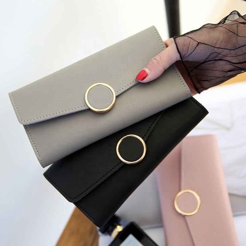Long Multi-card Wallet Purse Buckle Clutch Mobile Phone ladies card designers wallet for women
