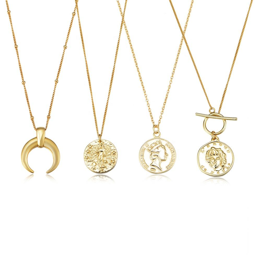 Peishang Custom Jewellery Juwelen 925 Sterling Silver Medallion Vintage Necklace 14K 18 18k 24K Gold Plated Jewelry