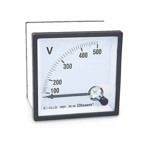 96mm Moving Coil Vierkante Type AC 0 500 v Panel Voltmeters