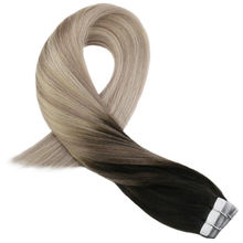 wholesale factory price stock fast shipping double drawn virgin remy ombre tape in human hair extensions