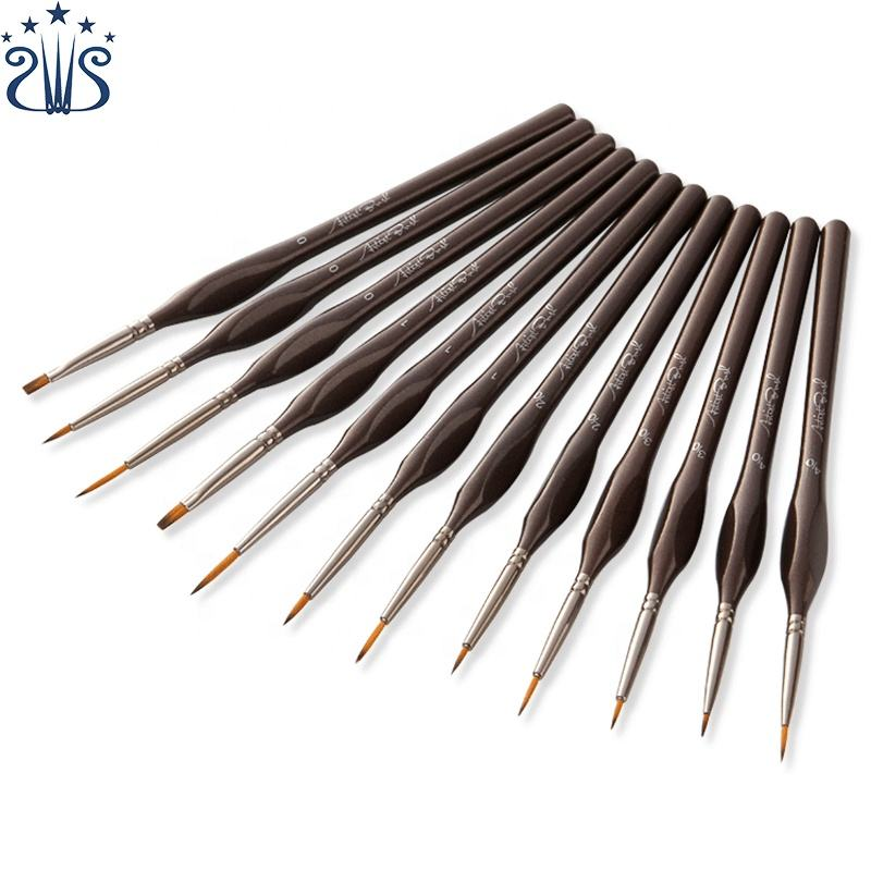 Professional Artist Paint Brush Sets 12pcs Paint Brushes For Acrylic Watercolor Oil Gouache Painting Brush