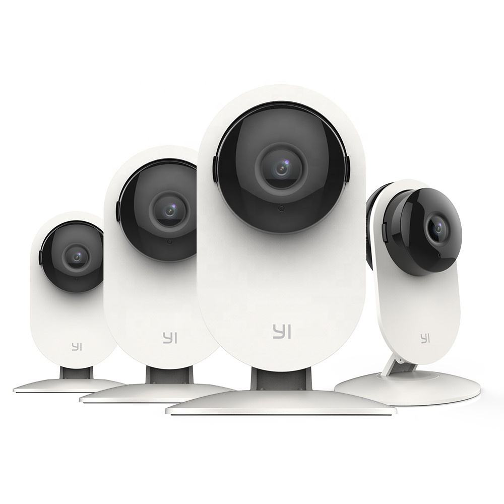 Original YI 4pc Home Camera、720p/1080P Wi-Fi IP Security Surveillance SystemとMotion Alert、Night Vision