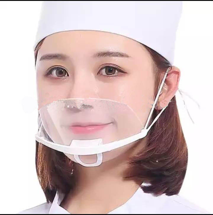 Best quality Plastic Anti-Fog Mouth Shield mouth Guard for Food Maker Restaurant Kitchen Sanitary Cover mask for adult