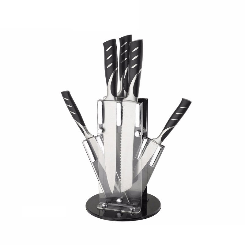 hot selling 5pcs stainless steel knife set with knife block