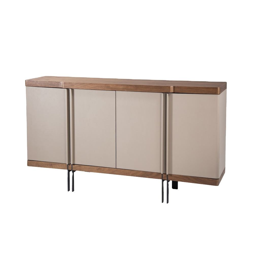 New Model Walnut Wood Fully Assemble Modern Sideboards Furniture For Living Room