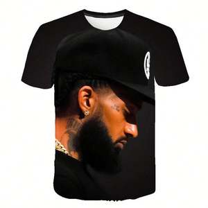 3d T-shirt Nipsey Hussle High Quality Tshirts Men Clothes Hip Pop Top Comfortable Hot Sales Short Sleeve Printed T-shirts