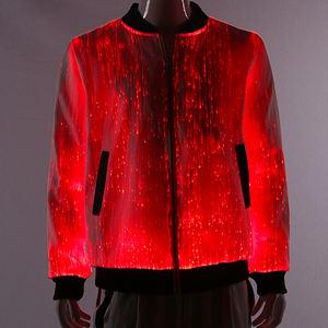 Led Light Up Uniforms Fiber Optic Fabric Jacket