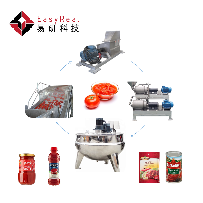 Tomato Sauce Paste Factory Kechup Machine Line Tomato Processing