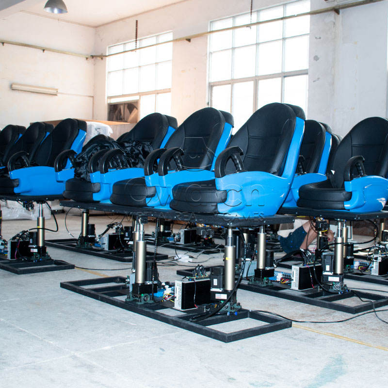 HIGH LEVEL 5D 6D 7D XD cinema equipment / 3d 4d 5d 7d cinema theater with 6 seats movie motion chair