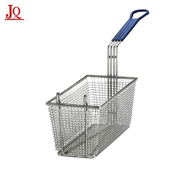 High quality fat fryer iron wire metal deep fry serving basket for french fries