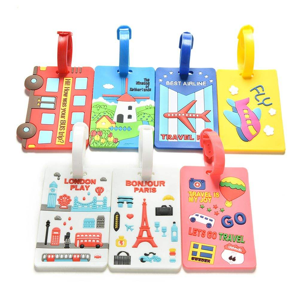 Wholesale Personalized Soft Rubber PVC Custom Luggage Tag