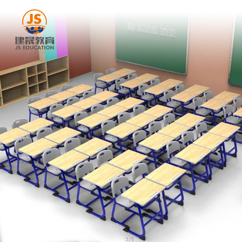 Single metal MDF classroom desk and chair school furniture equipment suppliers