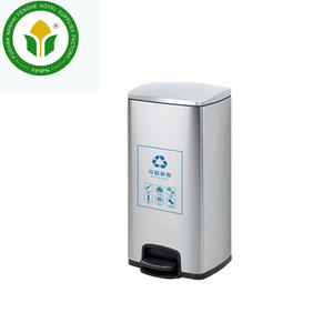 30L stainless steel recycle trash waste bin garbage bin pedal bin