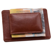 new material multi tool custom card holder mens genuine leather money clip wallet