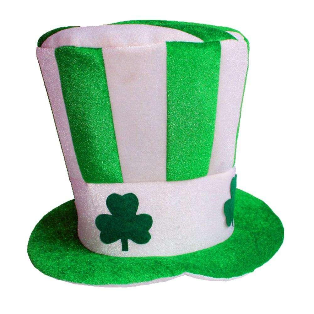 Saint Patricks St Shamrock Green Bowler Hat Fancy Dress Ireland Irish Clover