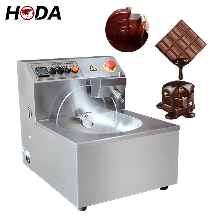Mini chocolate tempering machine small automatic 5 kg mold enrobing coating moulding melting machinery chocolate making machine