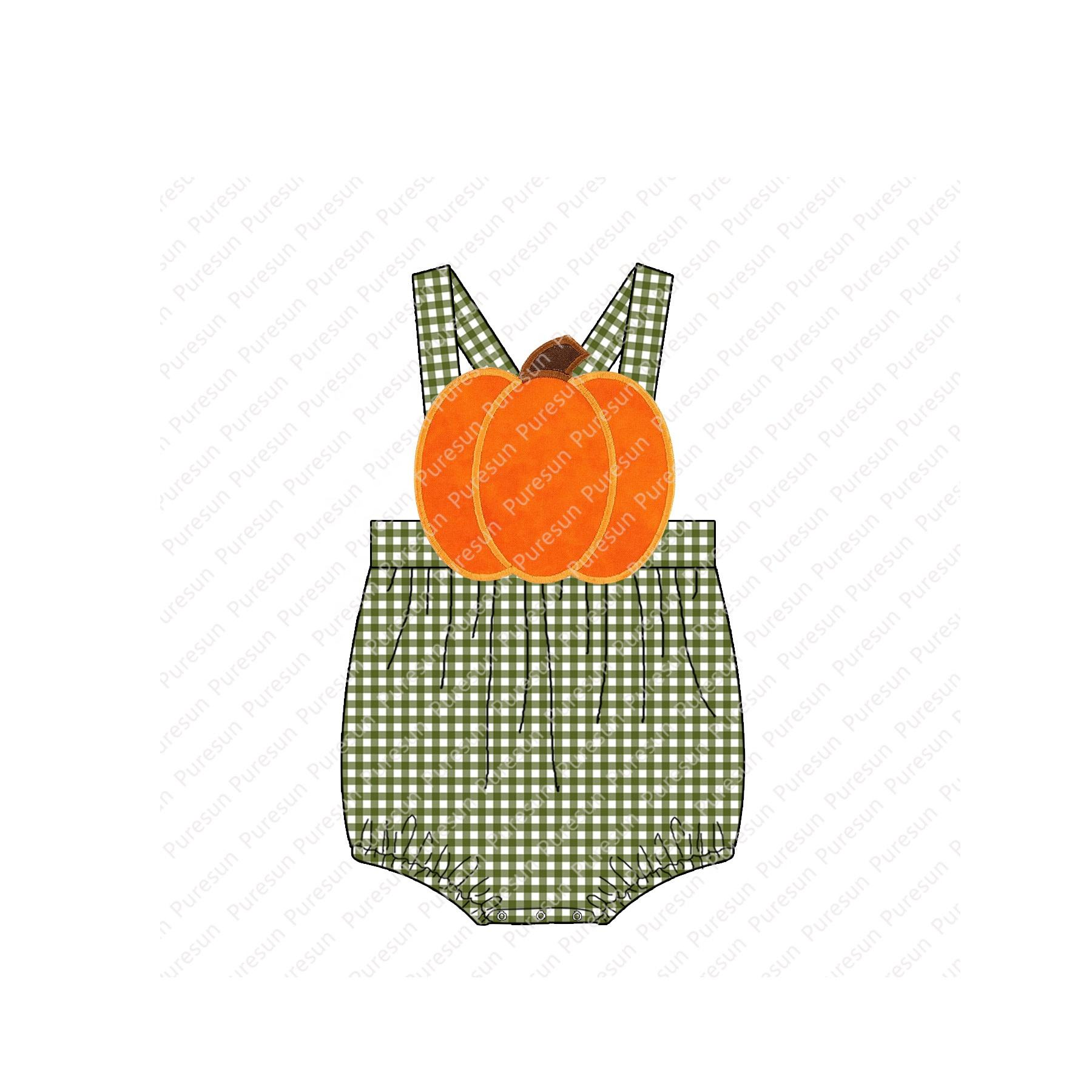 Hot sale Appliqued Clothes Halloween Applique Infants & Toddlers clothing Smocked Kid's Clothes Baby romper