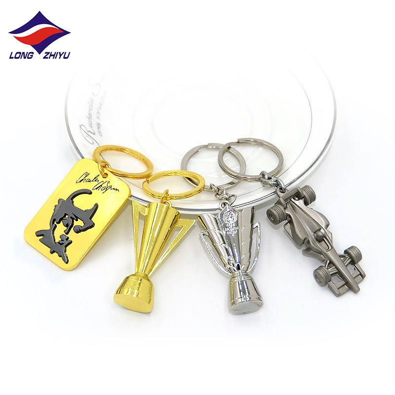 Longzhiyu 13 years china supplier professional custom zinc alloy keychains kirsite metal key chain
