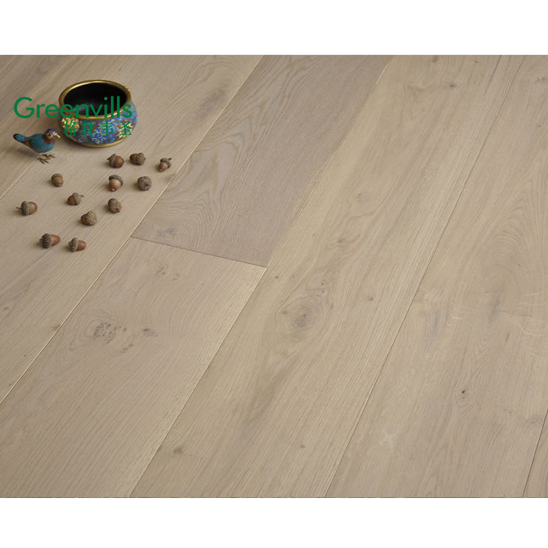 2020 modern new design dusty grey light color oak flooring, wood flooring wide plank,oak wooden flooring