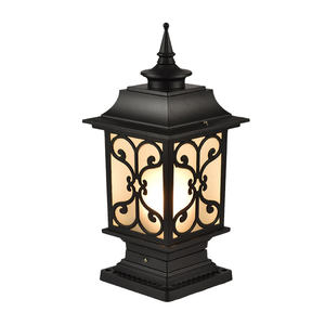 security classic outdoor led gate bollard lampara outside post pillar landscape lighting vintage solar home lawn garden lights