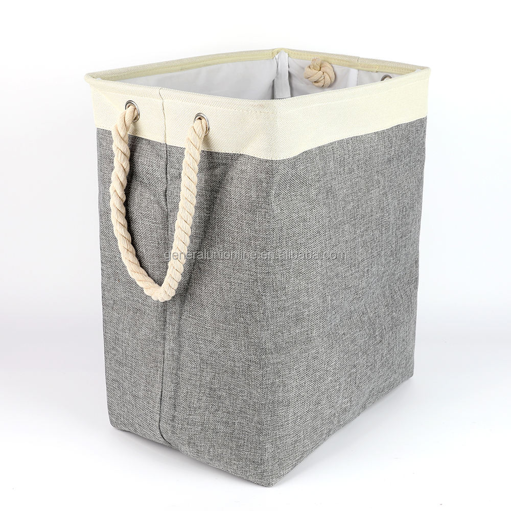 Large Capacity Foldable Collapsible Rope Storage Laundry Basket