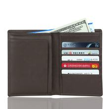 Wholesale Rifd Blocking Top Layer Genuine Cow Leather Passport Holder Wallet For Men