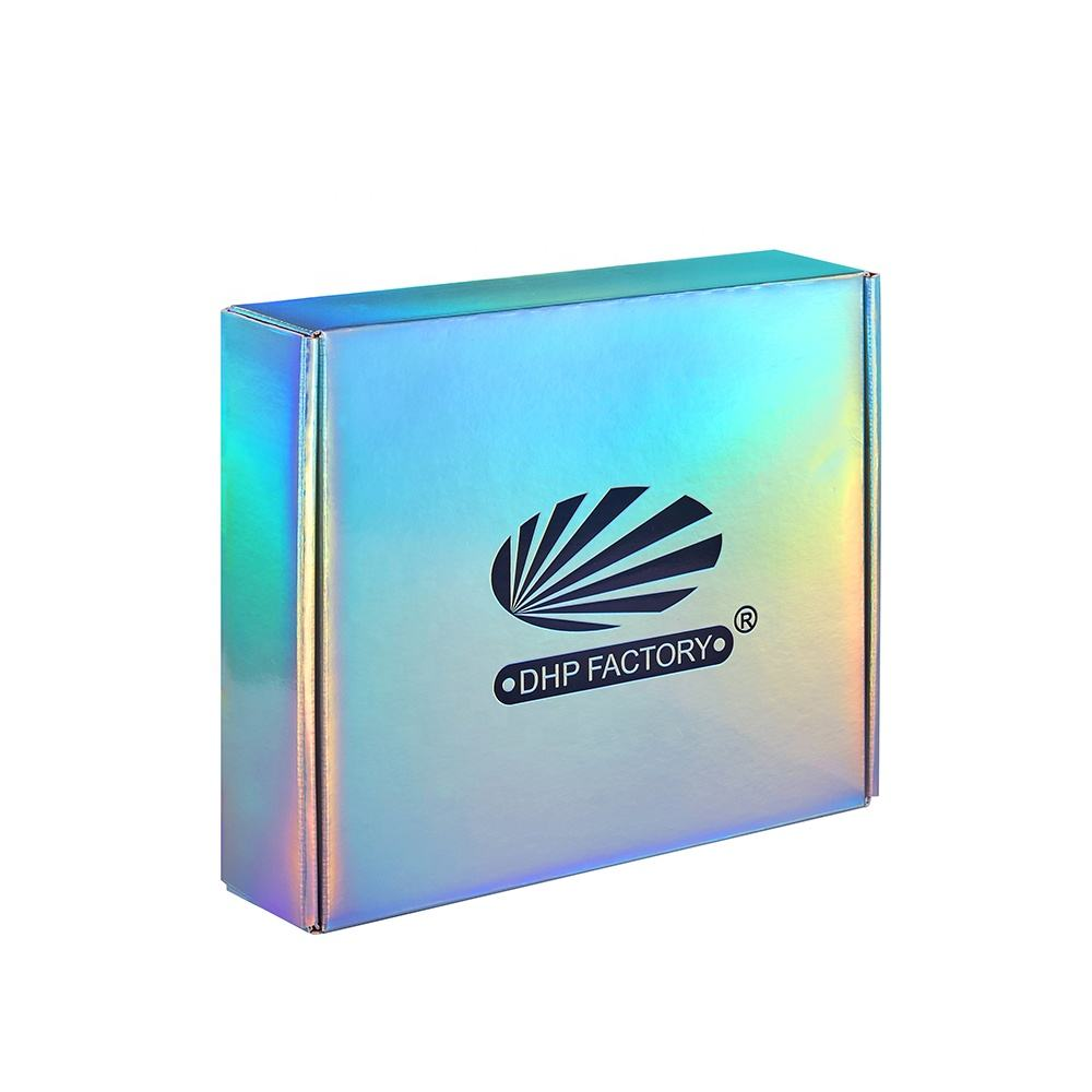 Luxury Wholesale Holographic Custom Logo Cardbaord Shipping Kraft Pink Mailer Corrugated Shoe Hoodie Gift Packaging Boxes