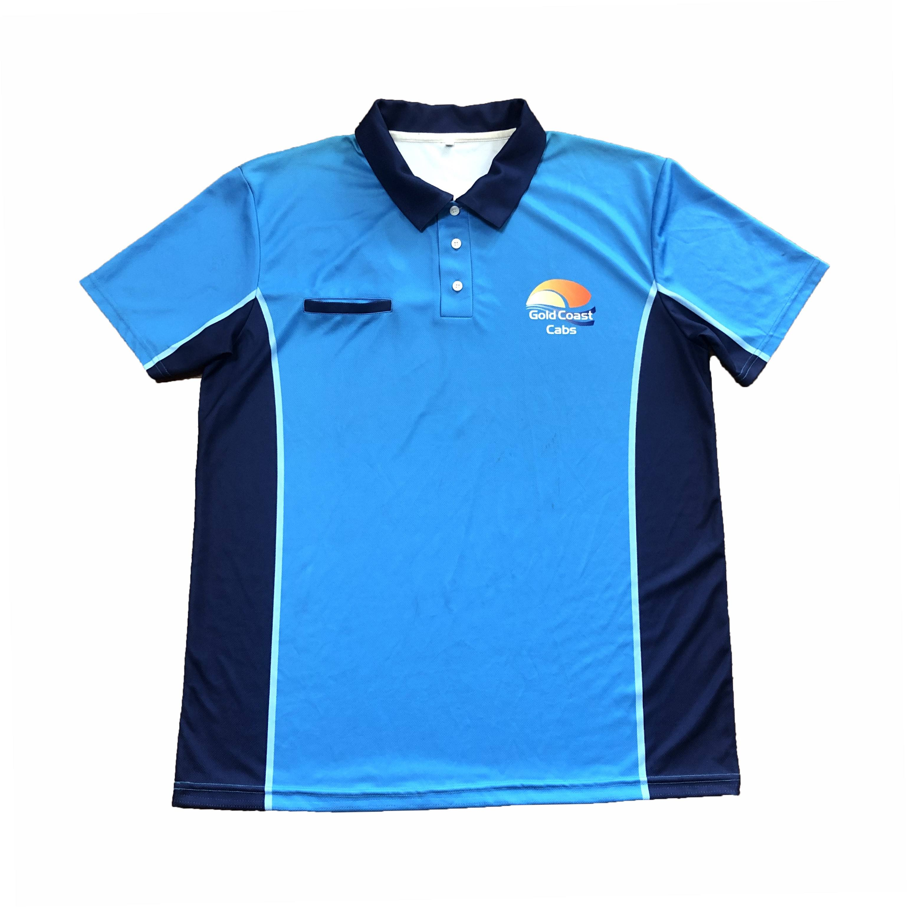 OEM custom short sleeve polo shirt high quality work wear uniform for unisex 100% polyester advertisement shirt for business