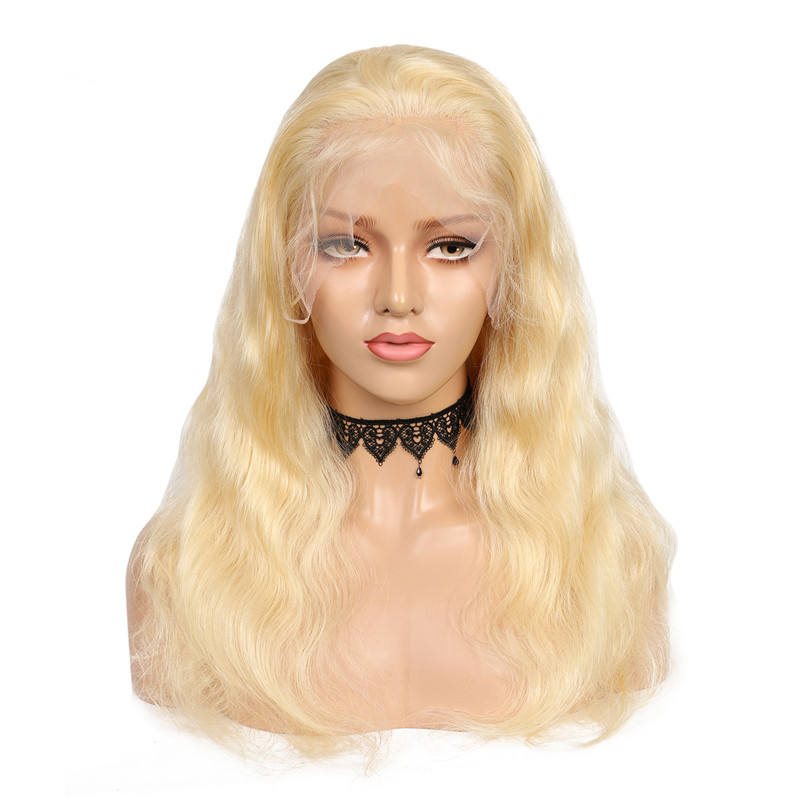 Body Wave [ Lace Wig Full ] Populared Brazilian Virgin Human Hair Lace Frontal Wig 613 Blonde Body Wave Glueless Lace Wig Full Density