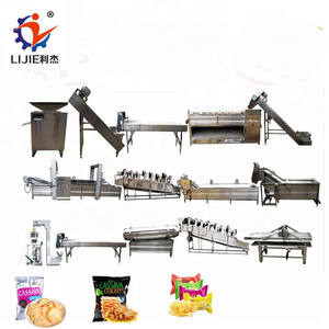 100kg Fully Automatic Manufacturing Frying Production Line Fresh Frozen French Fries