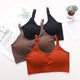 Thread new design High quality bra with nipple cover Adjustable Straps seamless bra with Removable Pads breathable push up bra