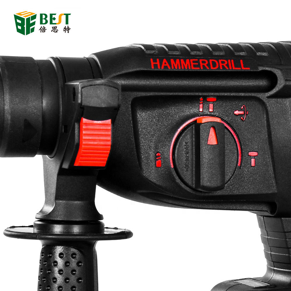 582tv 21V Rechargeable Brushless Cordless Rotary Hammer Drill Electric Hammer Impact Drill With 2 Lithium Battery