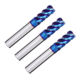 china taper flat extra long neck 3 4 flute hrc55 carbide brazed cutters solid cnc router end mill