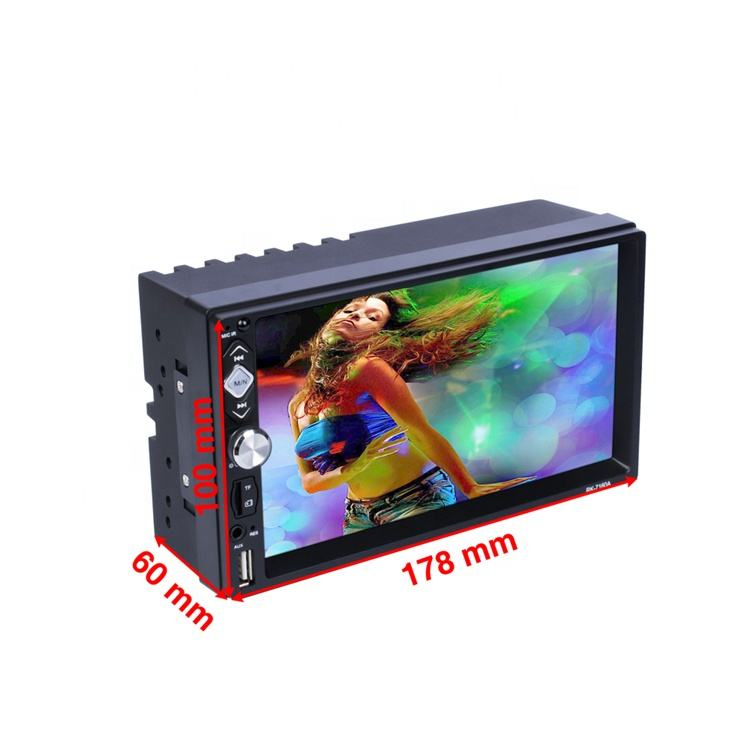 1080P Video Usb/Sd/MP4/MP5/Bt Hd LCD-TFT Touch Screen 2 Din Auto Radio speler