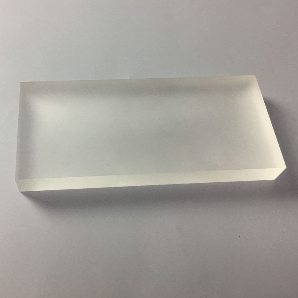 Custom Clear Frosted Acrylic Large Rectangle Block Plexiglass Display Logo Block