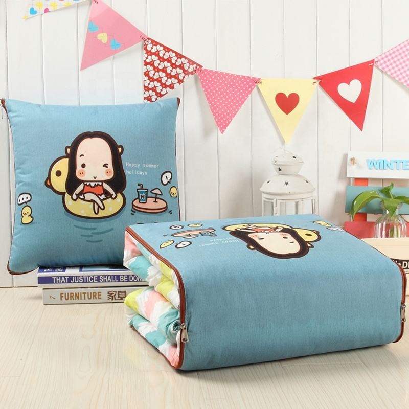 Multifunction Aloe Cotton Fabric Cushion Pillow Cushion Quilt Car Seat Folding Throw Pillow