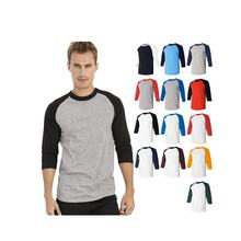 new style soft custom sportswear casual Mens 3/4 Sleeve Plain Baseball T Shirts