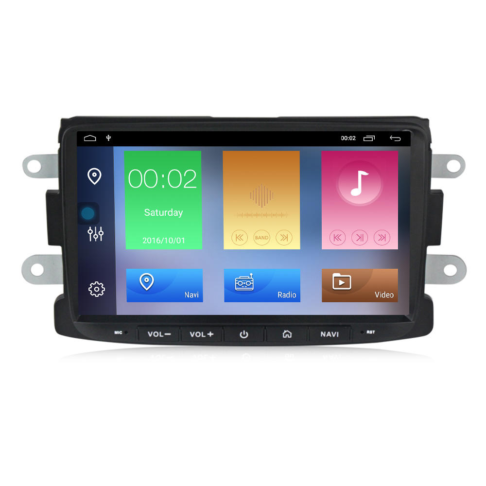 Navifly 8 zoll DSP Auto multimedia-player für Renault Duster Dacia Sandero Captur Android 9 HD 1080P WIFI BT RDS carplay
